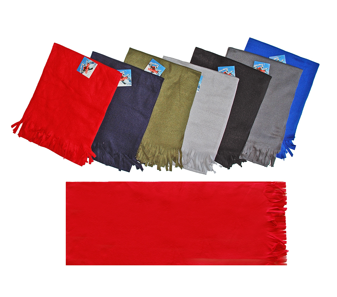 wholesale fleece scarves solid colors sku 2126239