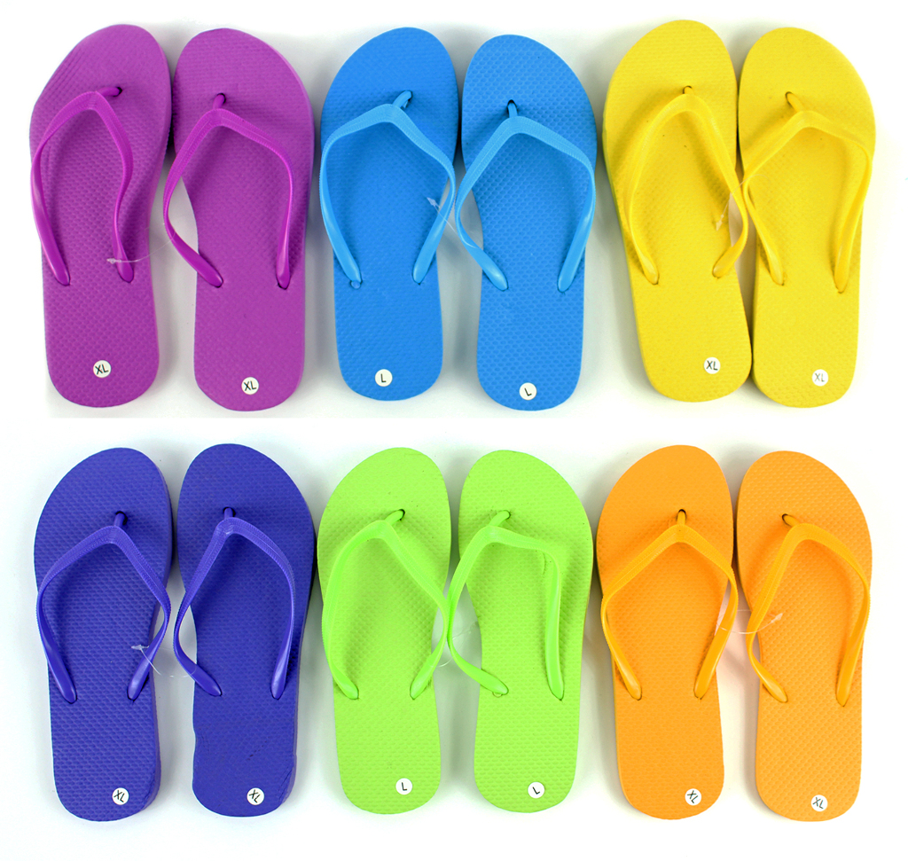 Women's Solid Colored Flip Flops SHOES (729286)