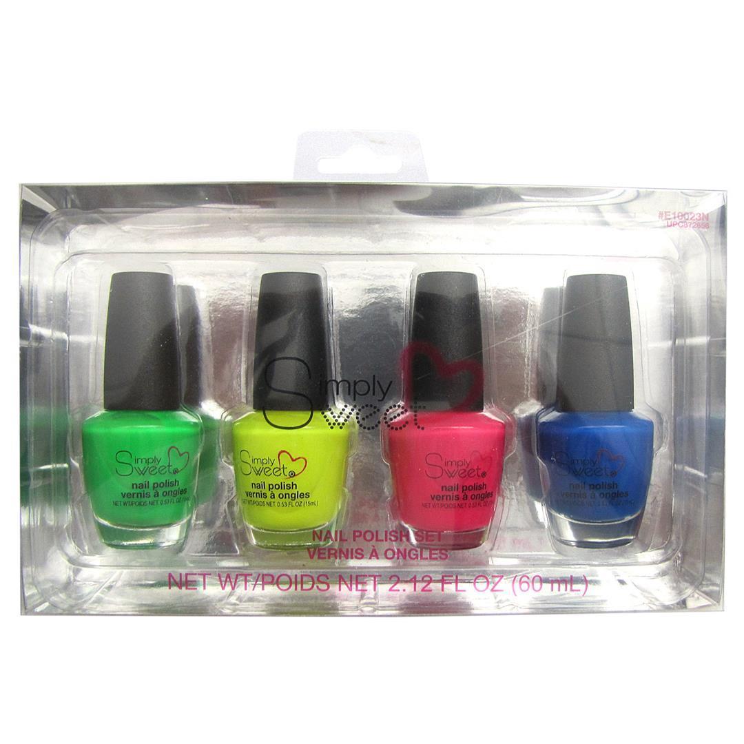 Simply Sweet Neon NAIL POLISH 4-Packs [2131321]