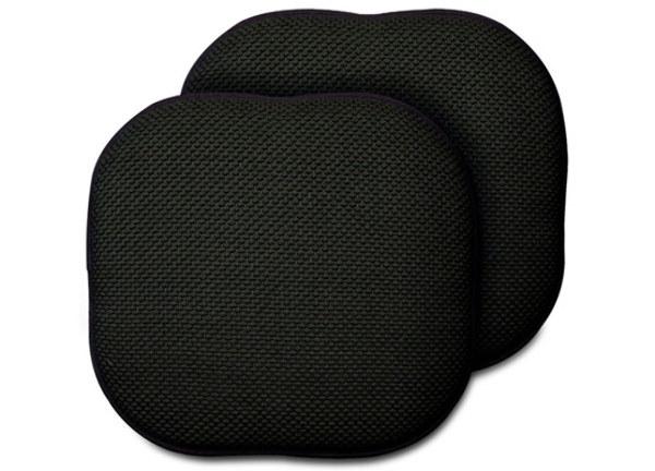 Memory Foam CHAIR Pads 2 Packs - Black (1818288)
