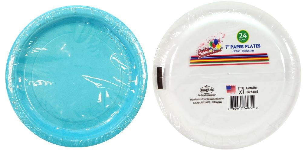 Wholesale 7quot Island Blue Round Paper Plate 24 Packs Sku  sc 1 st  Castrophotos & Cheap Paper Plates In Bulk - Castrophotos