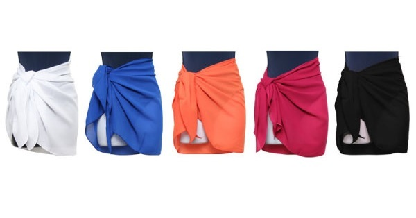 Women's Knee-Length SARONGs - Assorted Colors (1944985)