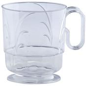 Hanna K. Signature Clear 8oz Plastic Elegance Coffee Mugs Wholesale Bulk
