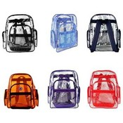 K-Cliff Multi-Compartment Transparent Backpacks