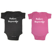 &quot;Future Superstar&#39;&#39; Short Sleeve Baby Creepers