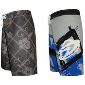 Men's Designer Print Board Shorts - Sizes 30-36