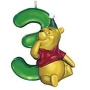 Disney Winnie the Pooh Age 3 Birthday Candle Wholesale Bulk