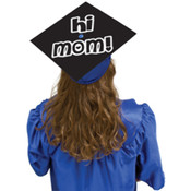 """Hi Mom"" Grad Cap Cover"