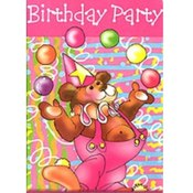 Juggling Bear Birthday Invitations Wholesale Bulk