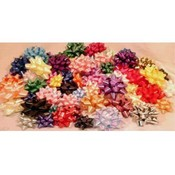 3.5' Confetti Ribbon Star Bows Asst Wholesale Bulk