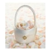 Ivory Diamonds Flower Girl Basket