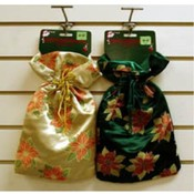 Poinsettia Brocade Gift Bag Wholesale Bulk
