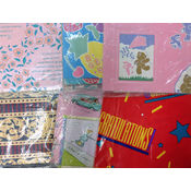Flat Gift Wrapping Paper Assortment