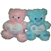 9&quot; Baby I Love You Pink &amp;amp; Blue Bears
