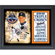 Miguel Cabrera Triple Crown 11 x 14 Stat Plaque