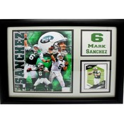 New York Jets #6 Mark Sanchez 12X18 Deluxe Frame