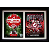 2011 National Champion Alabama 12x18 Double Frame