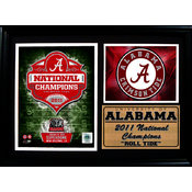 2011 National Champion Alabama 12x18 Photo Stat