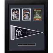New York Yankees Three Card Frame w/Pennant