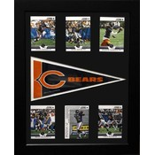 Chicago Bears 6 Card with Pennant 12x18 Frame
