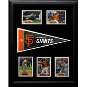 San Francisco Giants Pennant 12x18 Frame w/5 Cards