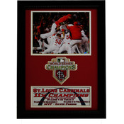 2011 WS Champ St.Louis Cardinals 12x18 Patch Frame