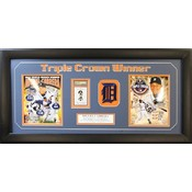 Miguel Cabrera Triple Crown Autographed Frame