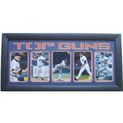 Detroit Tigers Top Guns 5-Photos 15X35 Frame
