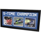 Jimmie Johnson Five Time Champion 15x35 Frame