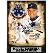 Miguel Cabrera Triple Crown 9 x 12 Photo Plaque