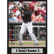 Miami Marlins Hanley Ramirez 9x12 Photo Plaque