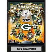 Super Bowl XLV Champs Green Bay Packers Plaque