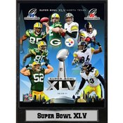 2011 Super Bowl XLV 9X12 Plaque