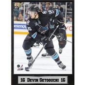 San Jose Sharks Devin Setoguchi 9x12 Photo Plaque