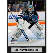 San Jose Sharks Antti Niemi 9x12 Photo Plaque