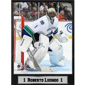 Vancouver Canucks Roberto Luongo 9x12 Photo Plaque