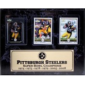 Pittsburgh Steelers Champions 9x12 3 Card Plaque