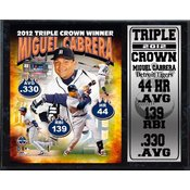 Miguel Cabrera Triple Crown 12 x 15 Stat Plaque