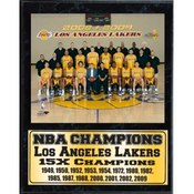 2009 Los Angeles Lakers Statistic Plaque