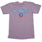 "Barack Obama ""Got Obama?"" Pink T-Shirt"