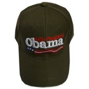 Barack Obama Green 44th President Cap