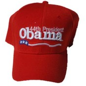 Barack Obama Red 44th President Cap