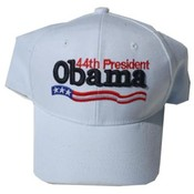 Barack Obama White 44th President Caps