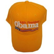 Barack Obama Yellow 44th President Cap