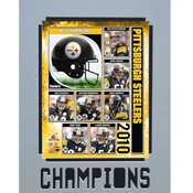 2010 AFCChampions Pittsburgh Steelers 11X14 Matted