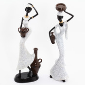 20 Inches African Lady Figurine Wholesale Bulk
