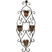 Metal Wall Glass Candle Holder