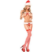 Sexy Santa Costume- Mistle Toe Show- Red, Queen