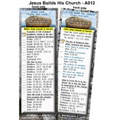Bookmark - Jesus Builds His Church - Package of 25