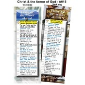 Bookmark - Christ and the Armor of God -Pack of 25